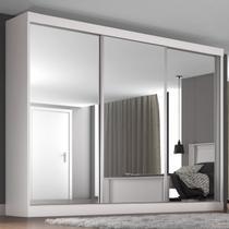 Guarda-roupa Casal Napoli 3 Portas 3 Gavetas Branco - Europa Móveis -