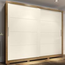 Guarda-roupa Casal Palace 2 Portas 4 Gavetas Rústico/off White - Henn -