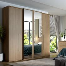 Guarda-Roupa Casal Splendore 4 Portas 2 Gavetas Plus Glass com Espelho THB