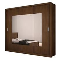 Guarda Roupa Casal Veneza Top Luxo 3 Portas Espelho Rufato -