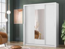 Guarda Roupa Casal Vero Demóbile 3 Portas De Correr Com 1 Espelho - Branco - 32270-03 - DEMOBILE