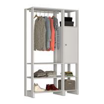 Guarda Roupa Closet 01 Porta 05 Prateleiras Yes EY101.107 Branco Nova Mobile -