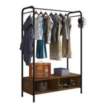 Guarda-roupa Closet Modulado Milão Artefamol Preto -