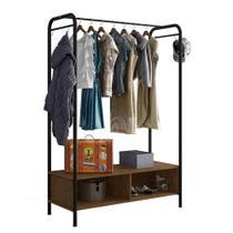 Guarda-roupa Closet Modulado Milão Artefamol SF Preto -