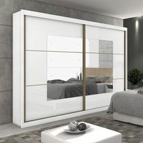 Guarda Roupa Com Espelho Lopas Toronto Plus 2 Portas Branco - Móveis lopas