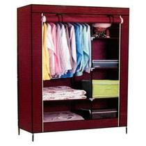 Guarda roupa com prateleiras organizador compacto portatil arara de roupas cabideiro - Makeda