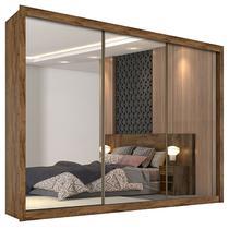 Guarda-Roupa de Casal com 3 Portas C/ Espelho Dubai-Móveis Europa -