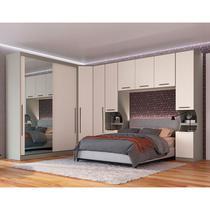 Guarda-Roupa de Casal Modulado 8 Peças Elegance 0041MA-Móveis Castro -