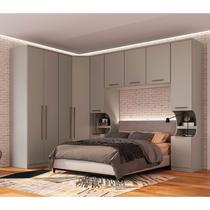 Guarda-Roupa de Casal Modulado 8 Peças Elegance 0042MA-Móveis Castro -