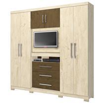 Guarda-Roupa Dubai 6 Portas 3 Gav. Avelã/Castanho Wood MOVAL -
