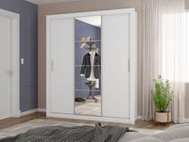 Guarda-roupa Isabela com Espelho 3 Portas de Correr 4 Gavetas -Carioca Móveis - Carioca Moveis