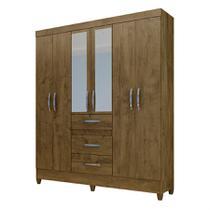 Guarda Roupa Itatiba C/ 6 Portas Castanho Wood - Moval móveis