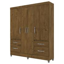 Guarda Roupa Londres Castanho Wood  Moval -