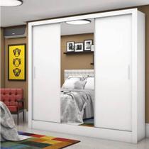Guarda-Roupa Marrocos 03 Portas 03 Gavetas Com Espelho Branco -