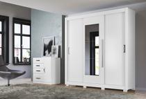 Guarda Roupa Montreal C/Espelho Branco moval -