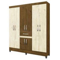 Guarda roupa moval portugal castanho wood/avela wood (sem espelho) -