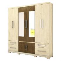 Guarda Roupa Porto C/ 2 Portas Espelhadas Avelã Wood/Castanho Wood - Moval móveis