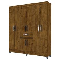 Guarda Roupa Portugal Castanho Wood  Moval -