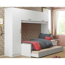 Guarda-Roupa/Roupeiro Multimóveis c/Bicama para colchão 190cmx90cm Branco REF.2691 -