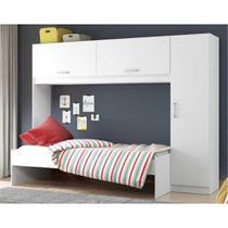 Guarda-Roupa/Roupeiro Multimóveis c/Cama para colchão 190cmx90cm Branco REF.2650.697 -