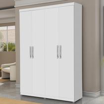 Guarda roupa solteiro 4 portas suede 14720/1 branco - gabrielli móveis - Gabriel Móveis