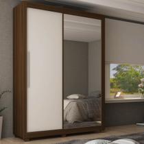 Guarda Roupa Solteiro com Espelho 2 Portas 3 Gavetas Royale Gelius -