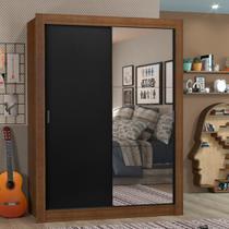 Guarda-Roupa Solteiro Madesa Denver 2 Portas de Correr com Espelho -