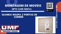 GUARDA ROUPAS  DE 2 PORTAS DE CORRER ( serviço de montagem ) - Cdc Qualidade