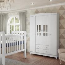 Guarda Roupas Infantil Ariel 4 Portas Carolina Baby -