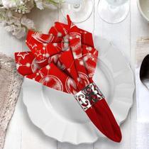 Guardanapo de Natal Elementos Natalinos Vermelho - Love Decor