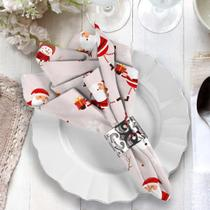 Guardanapo de Natal Papai Noel com Boneco de Neve - Love Decor