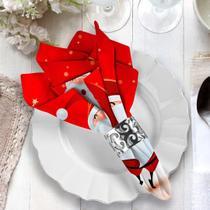 Guardanapo de Natal Papai Noel Feliz - Love Decor