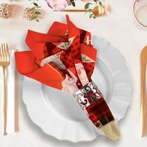 Guardanapo de Natal Papai Noel Ho Ho Ho - Love Decor