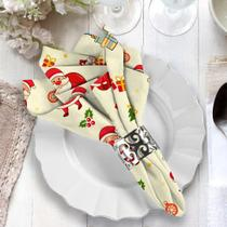 Guardanapo de Natal Papai Noel Minimalista - Love Decor