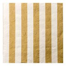 Guardanapo de papel Deco Natal C/20 Folhas Listrado Ouro - Cromus