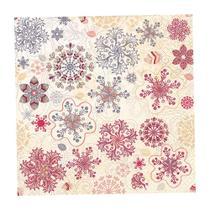 Guardanapo de Papel Decorado Estampado Natal Snow Flakes Pacote com 20 unidades Premium Luxo - Hudson