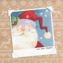 Guardanapo de Papel Decorado Papai Noel 33x33cm Importado - Lojas Carol Hu
