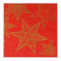 Guardanapo De Papel Estrelas Mesa Natal 20 Unidades Vermelho - Cromus