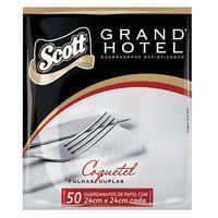 Guardanapo de Papel Folha Dupla 24x24cm Scott Grand Hotel Pct/ 50 unidades - Kimberly