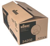 Guardanapo de Papel Interfolhado 100% Celulose Virgem 10 cm x 20 cm Caixa com 6000 Unidades - Nobre -