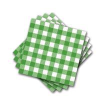 Guardanapo de Papel Xadrez Verde - 50 Unidades - Flip
