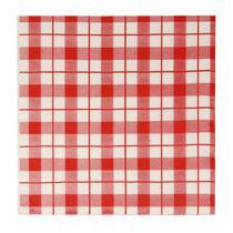 Guardanapo de papel xadrez vermelho e branco und - Natal
