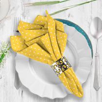 Guardanapo de Tecido Poá Amarelo Tropical - Love Decor