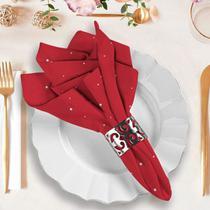 Guardanapo de Tecido Poá com vermelho - Love Decor