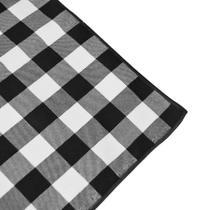 Guardanapo de Tecido Xadrez Preto e Branco - Festabox