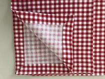 Guardanapo de tecido xadrez tricoline 100% algodão - Trem Bão Casa