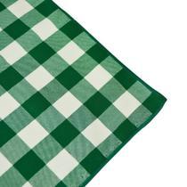 Guardanapo de Tecido Xadrez Verde e Branco - Festa Box