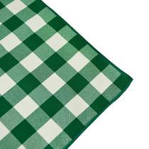 Guardanapo de Tecido Xadrez Verde e Branco - Festabox