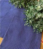 Guardanapo Poá Médio Azul Médio com Branco - Maria Bonita Mesa E Decor