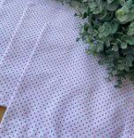 Guardanapo Poá Médio Branco com Vermelho - Maria Bonita Mesa E Decor